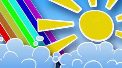 Stock-footage-sun-rainbow-and-clouds-in-sky-part-are-seamless-loop-computer-generated-animation